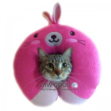 動物U型枕 ﹣粉紅兔