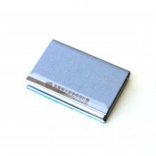 金屬皮革名片盒