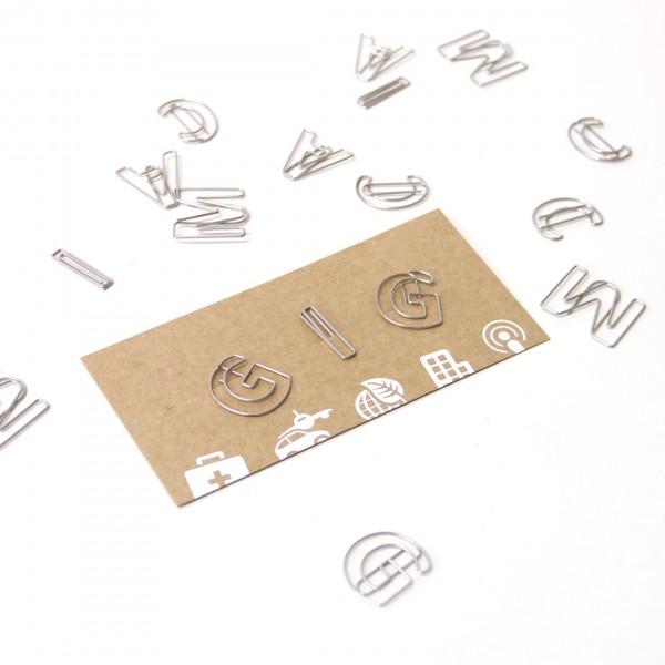 英文字母迴紋針