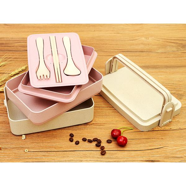 日式多層小麥環保餐盒